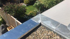 zinkendeklijst dakbedekking in Almere hoekafwerking